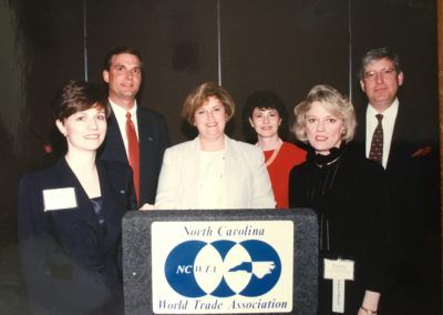 Left to Right, Theresa Salmon, Scott Griffin, Becky Porterfield, Susie Murphy,  Pamela Davison, and Klaus Becker