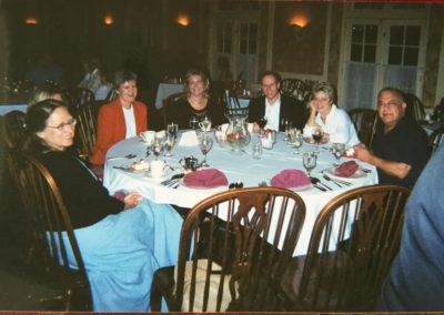 NCWTA Board Meeting Retreat in Pinehurst.  Elaine Seeman, ?, Barb Neidinger, ?, ?, Pamela Davison, and Ghanim Al Shibli