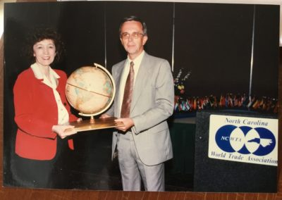 Elaine Marshall and 1997 Governor's Award for Manufacturing 1997