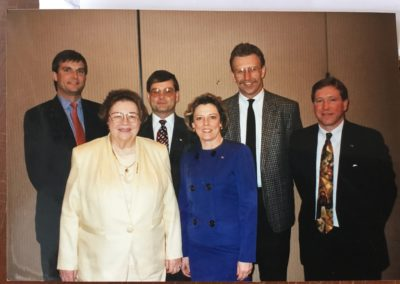 L to R: Scott Griffin, Ingeborg Hegenbart, Sam Troy, Pamela Davison, ?, and Bill Harazin,