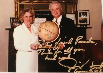 Pamela Davison with Governor Jim Hunt  1997