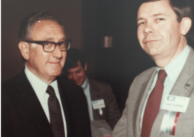 Henry Kissinger and Clem Schrader