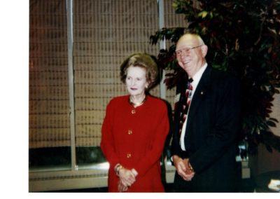 British Prime Minister Margaret Thatcher and Wayne Cooper
